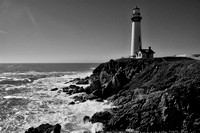 pigeon point lighthouse B&W